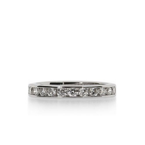Channel-Set 0.48ct Diamond Half Eternity Ring